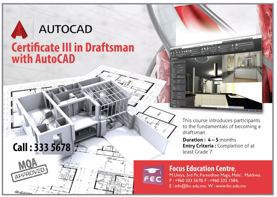Certificate III in Draftsman with AutoCAD